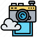 backup, camera, cloud, data, images, technology icon