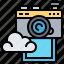 backup, camera, cloud, data, images, technology icon