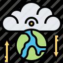 cloud, data, earth, global, technology, transfer