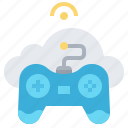 cloud, control, data, game, joystick, pad, technology icon