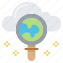 cloud, data, file, find, search, technology icon