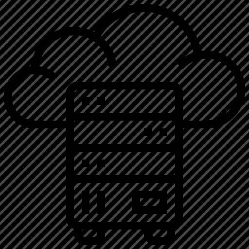 backup, cloud, data, server, storage, technology icon