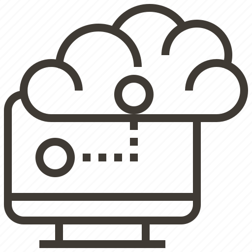 cloud, computer, information, internet, network, service, technology icon