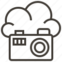 camera, cloud, information, internet, network, service, technology icon