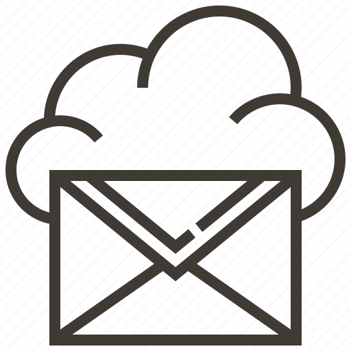 cloud, information, internet, mail, network, service, technology icon