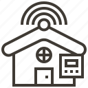 cloud, house, information, internet, network, service, technology icon