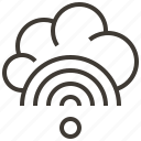 cloud, communication, information, internet, network, service, technology icon