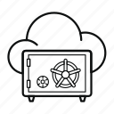 cloud, guardar, lock, protection, safe, save, secure, security icon