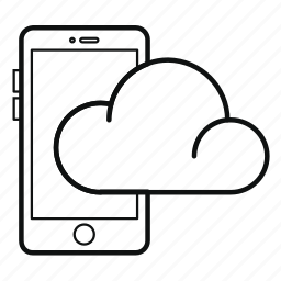 cloud, communication, iphone, mobile, phone, smartphone, sync icon
