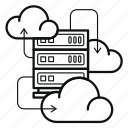 cloud, iaas, infrastructure, service, data, server, storage icon