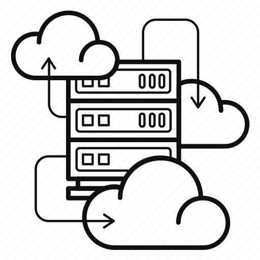 cloud, data, iaas, infrastructure, server, service, storage icon