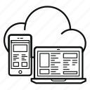 app, cloud, mobile, saas, server, service, soft icon