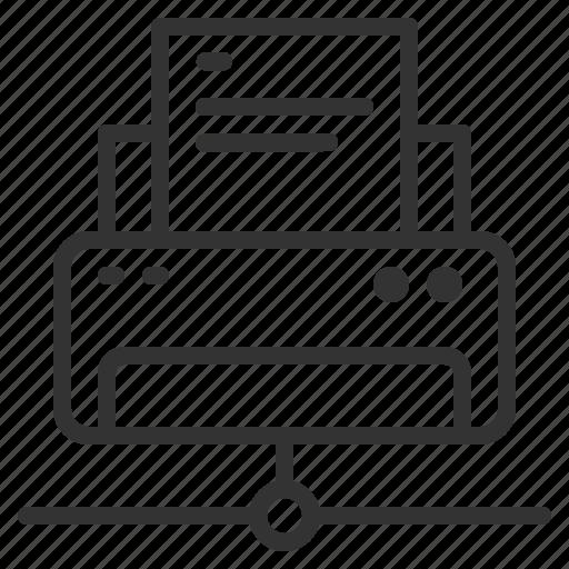 Printing, internet, fax, network, printer, online, wireless icon - Download on Iconfinder