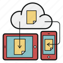 cloud, document, mobile, storage, sync, tablet, update