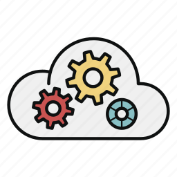 cloud, computing, paas, platform, server, service, storage icon