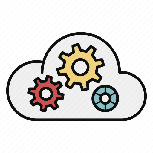 cloud, computing, paas, platform, server, service, storage icon