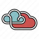 cloud, hybrid cloud, private, public, server, storage icon