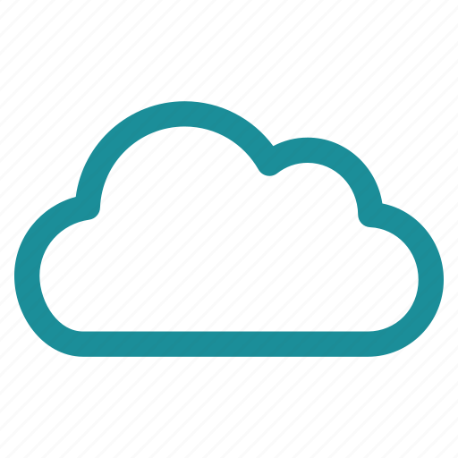 cloud computing, contour, online, server, sky, weather, web icon