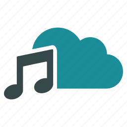 audio, cloud, multimedia, music notes, musical note, notation, play sound icon
