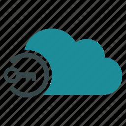 access key, cloud, login, open, password, secret, security icon