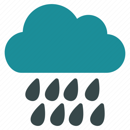Rainy, drop, rain, forecast, weather, storm, cloud icon