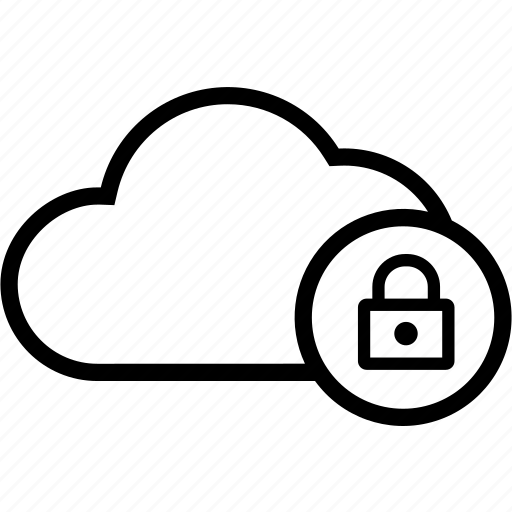 Lock, locked, secure, cloud icon