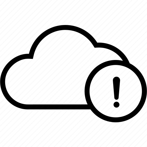 cloud, error, warning icon
