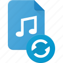 audio, file, music, sound icon