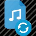 audio, file, music, sound icon