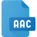 aac, audio, file, music, sound icon