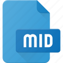 audio, file, mid, midi, music, sound icon