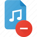 audio, file, music, remove, sound icon