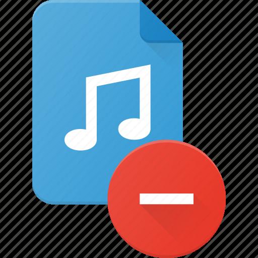 audio, file, music, remove, sound icon