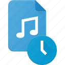 audio, file, music, sound, time icon