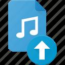 audio, file, music, sound, upload icon