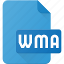 audio, file, music, sound, wma icon