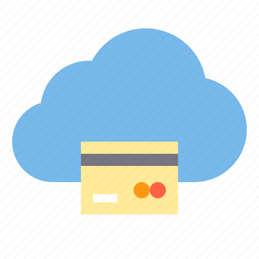 card, cloud, credit, data, storage, technology icon