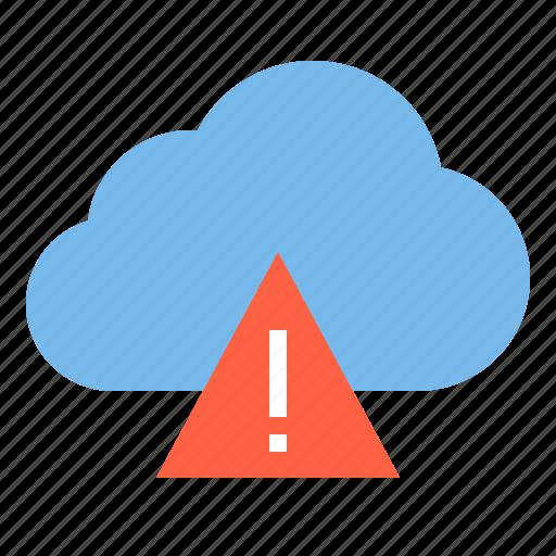 allert, cloud, danger, storage, technology icon