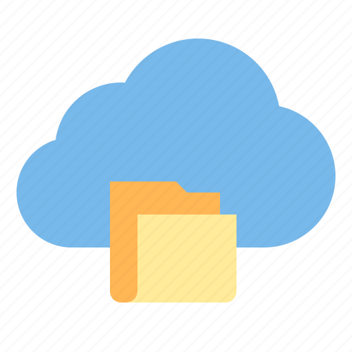 cloud, data, folder, storage, technology icon