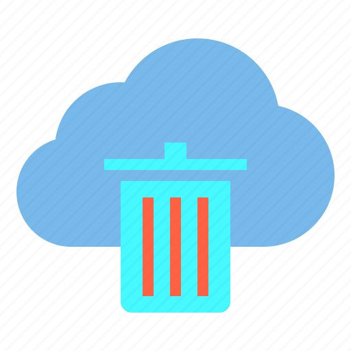 cloud, data, delete, storage, technology icon