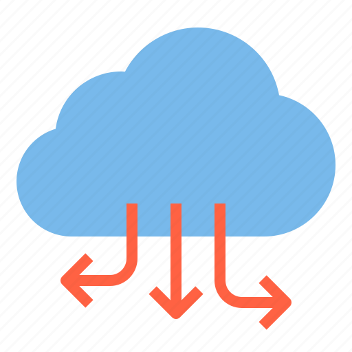 cloud, download, service, storage, technology icon