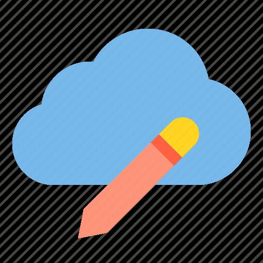 cloud, data, education, storage, technology icon