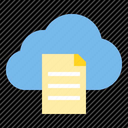 cloud, file, storage, technology icon