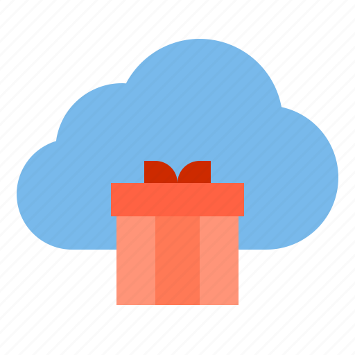 cloud, gift, storage, technology icon
