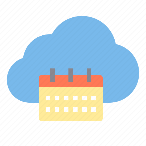 calendar, cloud, meeting, storage, technology icon