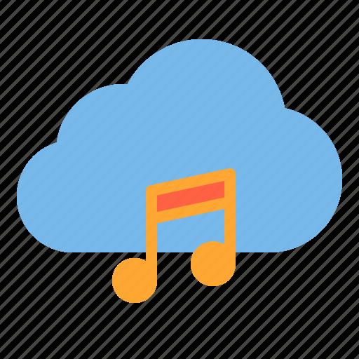 cloud, music, storage, technology icon