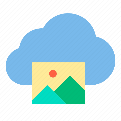 cloud, photo, storage, technology icon