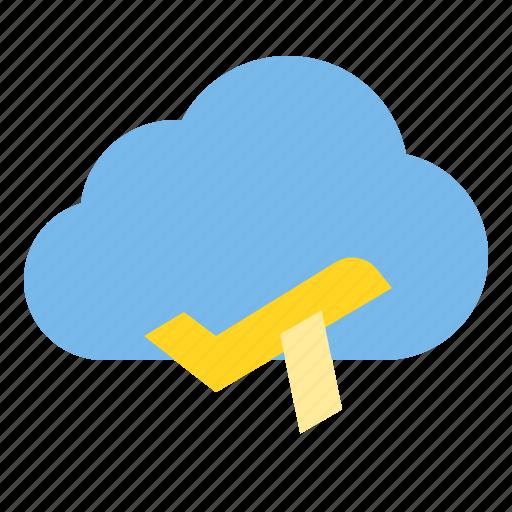 cloud, plane, storage, technology icon