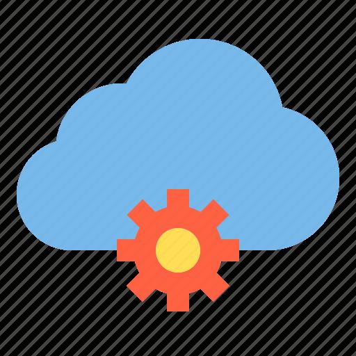 cloud, process, storage, technology icon