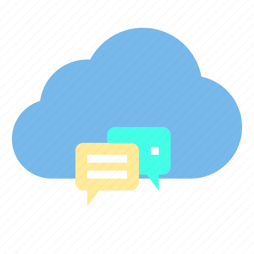 chat, cloud, service, storage, technology icon